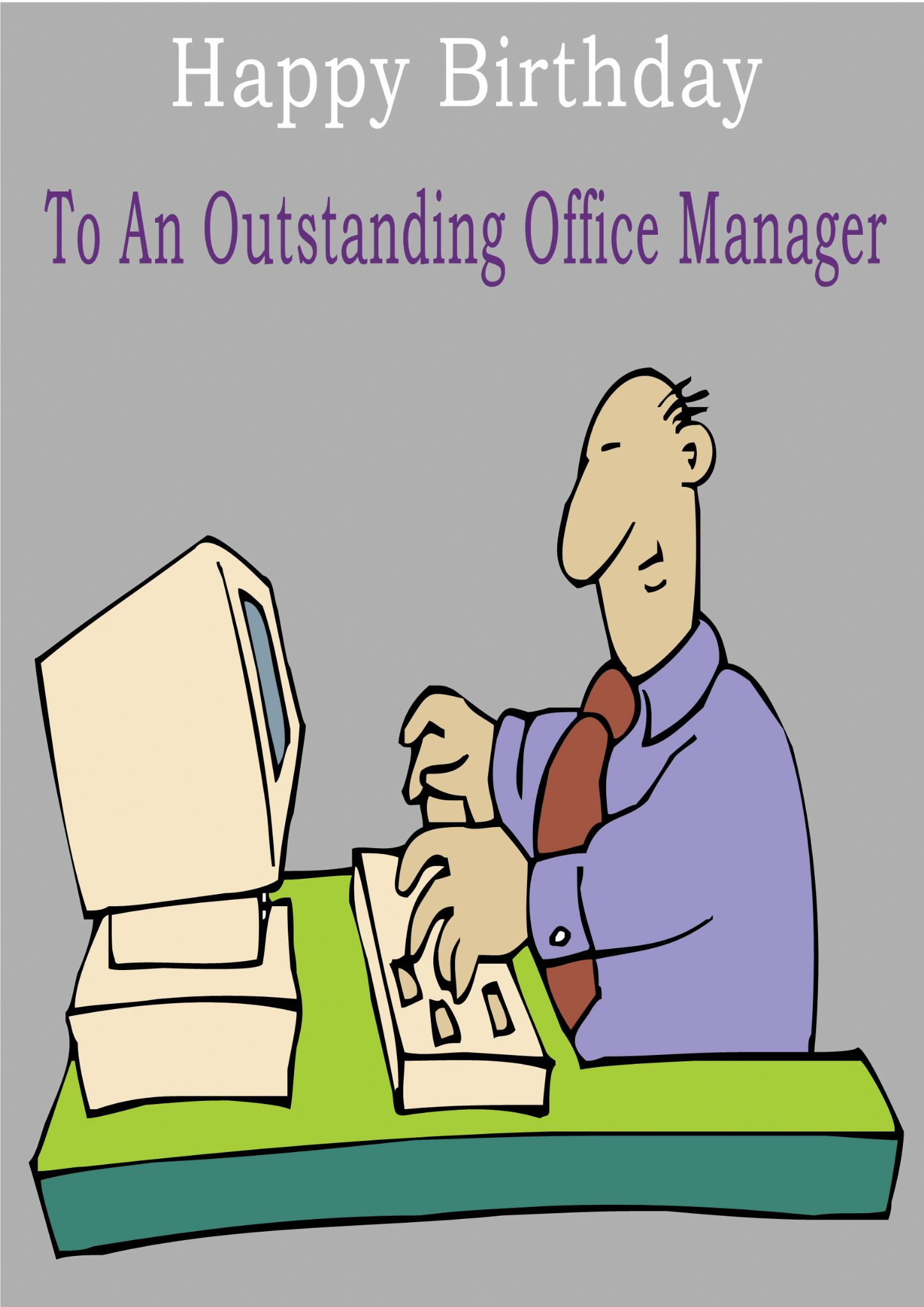 Office Manager Greeting Card
